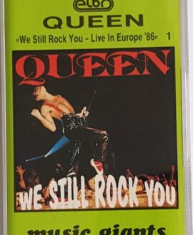 QUEEN  WE STILL ROCK YOU LIVE IN EUROPE 86 vol.1 audio cassette