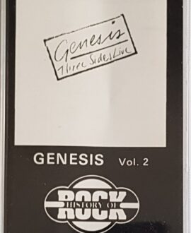 GENESIS  THREE SIDES LIVE vol.2 audio cassette