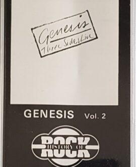 GENESIS  THREE SIDES LIVE vol.2 audio cassette