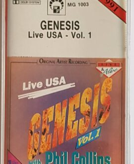 GENESIS  LIVE USA vol.1 audio cassette