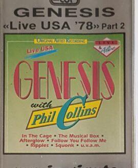 GENESIS  LIVE USA 78 part 2 audio cassette