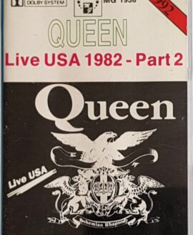 QUEEN  LIVE USA 1982 part 2 audio cassette