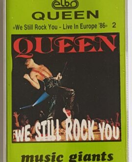 QUEEN  WE STILL ROCK YOU LIVE IN EUROPE 86 vol.2 audio cassette