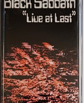 BLACK SABBATH  LIVE AT LAST audio cassette