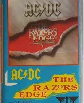 AC/DC  THE RAZORS EDGE audio cassette
