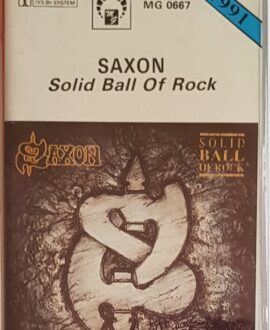 SAXON  SOLID BALL OF ROCK audio cassette