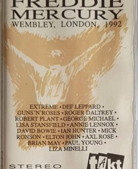 FREDDIE MERCURY  A TRIBUTE TO, WEMBLEY, LONDON 1992 audio cassette