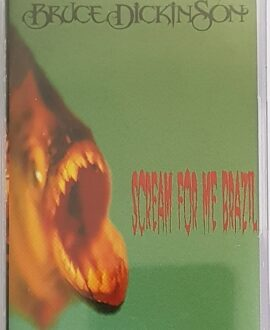 BRUCE DICKINSON  SCREAM FOR THE BRASIL audio cassette