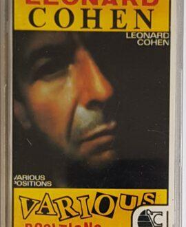 LEONARD COHEN  VARIOUS POSITION audio cassette