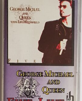 GEORGE MICHAEL AND QUEEN  FIVE LIVE audio cassette