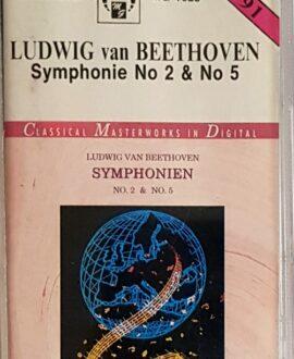 L.V.BEETHOVEN  SYMPHONIE 2&5 audio cassette
