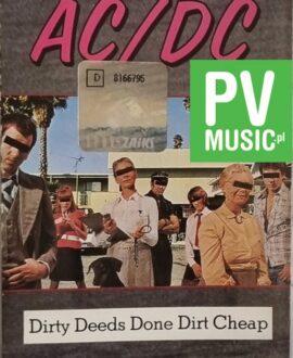 AC/DC  DIRTY DEEDS DONE DIRT CHEAP audio cassette