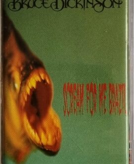 BRUCE DICKINSON  SCREAM FOR ME BRAZIL audio cassette