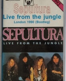 SEPULTURA  LIVE FROM THE JUNGLE audio cassette
