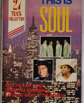 THIS IS SOUL  THE DRIFTERS, JAMES BROWN audio cassette